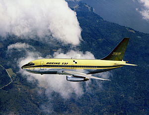 Airplane Picture - Boeing 737-100 in Boeing house colors