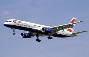 Airplane Picture - British Airways 757-200 in landing configuration