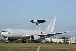 Airplane Picture - Boeing E-767 AWACS aircraft of the JASDF