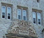 World War 1 Picture - Coat of arms of Canada on Currie Hall Mackenzie Building Royal Military College of Canada