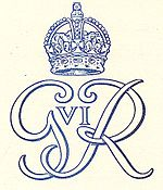 World War 1 Picture - Royal cypher (monogram) from 1949.