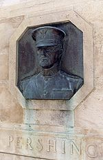 World War 1 Picture - Bronze relief of Pershing, Kansas City, Missouri, Liberty Memorial