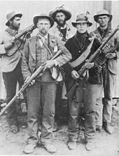 World War 1 Picture - Boer guerrillas during the Second Boer War in South Africa.