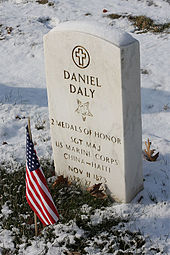 World War 1 Picture - Daly is buried at Cypress Hills National Cemetery in New York City.