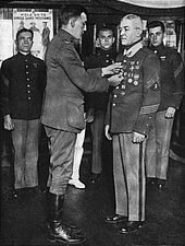World War 1 Picture - Daly being awarded the M�daille militaire.