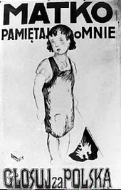 World War 1 Picture - Polish poster from the plebiscite in Upper Silesia in 1921. Says: