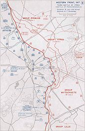 World War 1 Picture - The progression of the battle and the general disposition of troops.