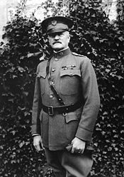 World War 1 Picture - Pershing at General Headquarters in Chaumont, France, October 1918.