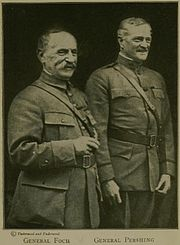 World War 1 Picture - Foch with General Pershing (c. 1918).