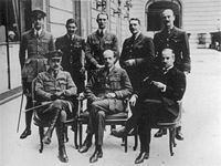 World War 1 Picture - The British Air Section at the Paris Peace Conference in 1919