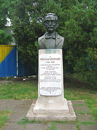 World War 1 Picture - Avram Goldfaden's statue near the Iasi National Theatre