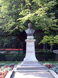 World War 1 Picture - Mihai Eminescu's statue and his Linden Tree in Copou Park