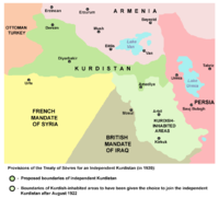 World War 1 Picture - Provisions of the Treaty of Sevres for an independent Kurdistan