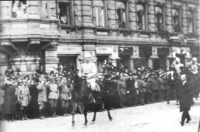 World War 1 Picture - Mannerheim leading the victory parade at the end of the Finnish Civil War in Helsinki, 1918.