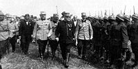 World War 1 Picture - Marshal Joffre inspecting Romanian troops