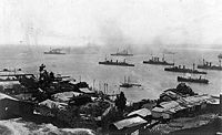 World War 1 Picture - The German fleet off Chile in November 1914 after the Battle of Coronel.