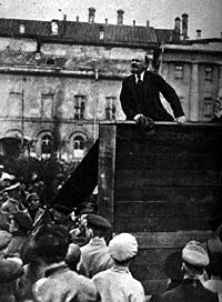 World War 1 Picture - Vladimir Lenin leader of the Bolsheviks.
