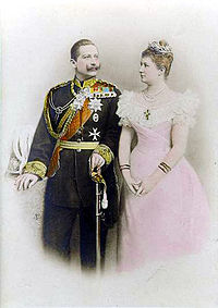World War 1 Picture - Wilhelm and his first wife Augusta Viktoria