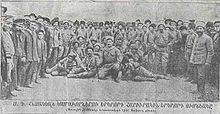 World War 1 Picture - A group of Armenians responded to Russian recruitment for the Armenian volunteer units
