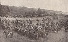 World War 1 Picture - Indian cavalry from the Deccan Horse during the Battle of Bazentin Ridge. Note the lances held by most of the cavalrymen, which were actually employed during a cavalry charge on the evening of 14 July.