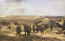 World War 1 Picture - 8 August 1918 by Will Longstaff, showing German prisoners of war being led towards Amiens