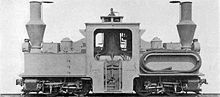 World War 1 Picture - Baldwin Locomotive Works Péchot-Bourdon locomotive with water-lifter pipe carried on right side tank