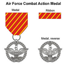 World War 1 Picture - Obverse and reverse of the Air Force Combat Action Medal.