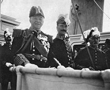 World War 1 Picture - The Lords of the Admiralty attending the Naval Review, 1907. Fisher front left.