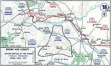 World War 1 Picture - The front line at various stages in the battle.