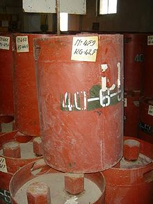 World War 1 Picture - Soviet chemical weapons canisters from a stockpile in Albania