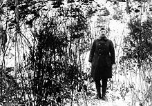 World War 1 Picture - York at the hill where his actions earned him the Medal of Honor, three months after the end of World War I, February 7, 1919