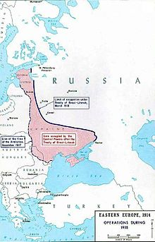 World War 1 Picture - Borders drawn up in Brest-Litovsk