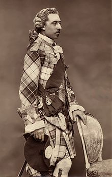 World War 1 Picture - The Duke in traditional Scottish clothing, c. 1875 - 1880