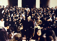 World War 1 Picture - Ataturk visits the Istanbul University after its reorganization with the University Law of 31 May 1933 that introduced mixed-sex education to the academies, colleges and universities in Turkey. In 1915, during the Ottoman period, a separate section for girl students named the İnas Darx�lfx�nunu was opened as a branch of the İstanbul Darx�lfx�nunu, the predecessor of the modern Istanbul University.