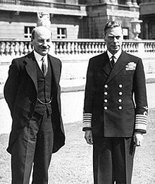 World War 1 Picture - George VI (right) with British prime minister Clement Attlee, July 1945