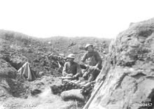 World War 1 Picture - Men of 2nd Australian Light Trench Mortar Battery 8th May