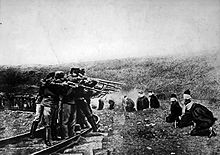 World War 1 Picture - Austrian troops executing captured Serbians in 1917.