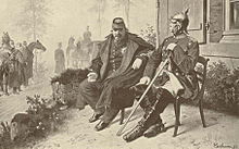 World War 1 Picture - Napoleon III and Bismarck after the 1870 Battle of Sedan, of the Franco-Prussian War.