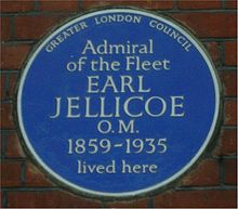 World War 1 Picture - Blue plaque at 25 Draycott-place, (Blacklands Terrace), Cadogan gardens, London, SW3