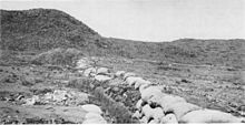 World War 1 Picture - The Boer trench at the Battle of Magersfontein contributed to the surprise defeat of the Highland Brigade on 11 December 1899 during the Second Boer War.