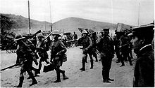 World War 1 Picture - British troops arriving at Tsingtao in 1914.