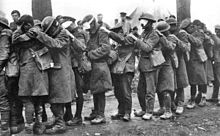 World War 1 Picture - Tear gas casualties from the Battle of Estaires, April 10, 1918.