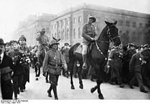 World War 1 Picture - General Lettow-Vorbeck at Berlin parade (1919)