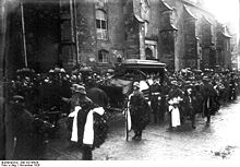 World War 1 Picture - Scheer's funeral at Weimar, November 1928