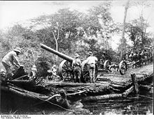 World War 1 Picture - Konigsberg guns on land