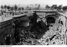 World War 1 Picture - Part of the ruined fort after capture by Germans