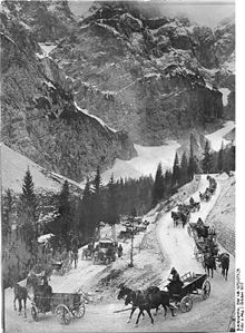 World War 1 Picture - Austro-Hungarian supply line over the Vr�ič pass. October 1917
