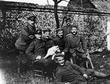 World War 1 Picture - Hitler in the German Army, 1914, sitting at right