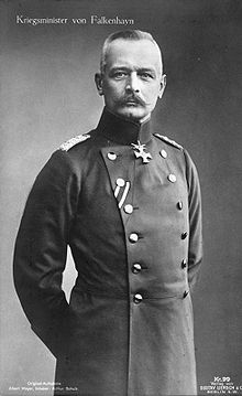World War 1 Picture - Erich von Falkenhayn, Prussian Minister of War from 1913 to 1914.