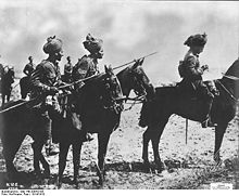 World War 1 Picture - Men from an Indian Cavalry regiment on the Western front 1914